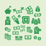 Icônes d'argent Photo stock