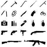 Icônes d'arme de vecteur illustration libre de droits