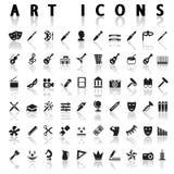 Icônes d'art Images stock