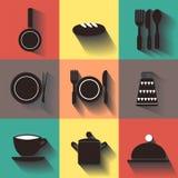 Icônes d'articles de cuisine Photographie stock libre de droits
