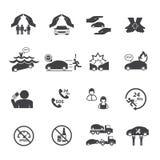 Icônes d'assurance auto réglées illustration stock