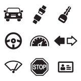 Icônes d'auto-école Images stock
