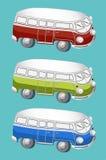 Icônes d'autobus Illustration de Vecteur