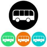 Icônes d'autobus Photographie stock