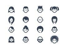 Icônes 2 d'avatar Image libre de droits