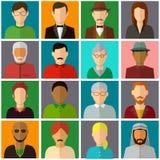 Icônes d'avatar de personnes Icônes plates de personnes Vecteur Photo libre de droits