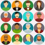 Icônes d'avatar de personnes Icônes plates de personnes Vecteur Image stock