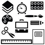 Icônes d'école Image libre de droits