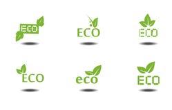 Icônes d'Eco Photo libre de droits