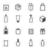 Icônes d'emballage Photographie stock libre de droits