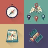 Icônes d'emplacement Photos libres de droits