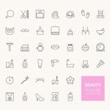 Icônes d'ensemble de beauté Photos libres de droits