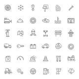 Icônes d'ensemble Pièces et services de véhicule