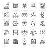 Icônes d'entreprise constituée en société Photos stock