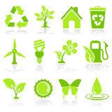 Icônes d'environnement Photo stock