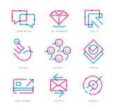 Icônes d'expérience d'utilisateur illustration de vecteur