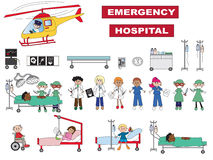 Icônes d'hôpital Photographie stock