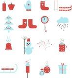 Icônes d'hiver Photo stock