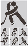 Icônes d'hockey réglées Photo libre de droits
