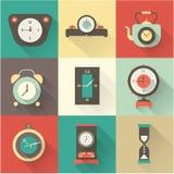 Icônes d'horloge de vecteur réglées Photographie stock libre de droits