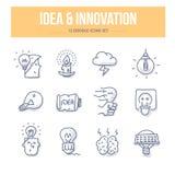 Icônes d'idée et de griffonnage d'innovation Image libre de droits