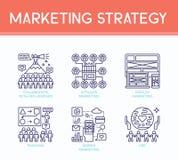 Icônes d'illustration de stratégie marketing Image libre de droits