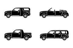 Icônes d'illustration de vecteur de voitures Photos stock