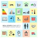 Icônes d'immobiliers de vecteur réglées Photographie stock
