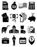 Icônes d'impôts réglées illustration libre de droits