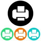 Icônes d'imprimante Images libres de droits