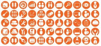 Icônes d'industrie de sylviculture image stock