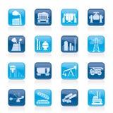 Icônes d'industrie lourd Images libres de droits
