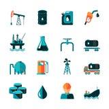 Icônes d'industrie pétrolière