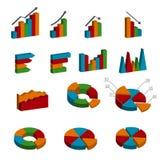 Icônes d'Infographic 3D de busuness de vecteur Photo stock