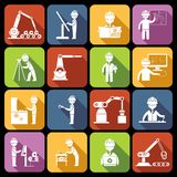 Icônes d'ingénierie blanches illustration libre de droits