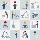 Icônes d'ingénierie plates illustration libre de droits