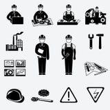 Icônes d'ingénierie réglées illustration stock