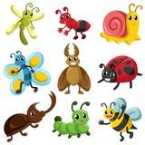 Icônes d'insecte illustration de vecteur