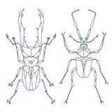 Icônes d'insecte, ensemble de vecteur Style triangulaire abstrait Photographie stock