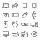 Icônes d'instrument et de dispositif Photos stock
