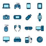 Icônes d'instrument et de dispositif Photographie stock libre de droits