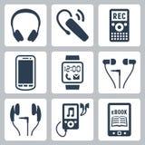 Icônes d'instruments de vecteur réglées Images stock