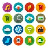 Icônes d'Internet et de wedsites – série de Fllate illustration libre de droits