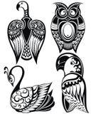 Icônes d'oiseaux Photo stock