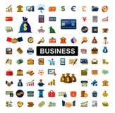 Icônes d'opérations bancaires Photos stock