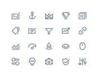 Icônes d'optimisation de recherche Ligne série Photos stock