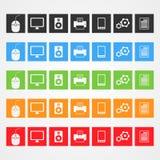 Icônes d'ordinateur de vecteur Images libres de droits