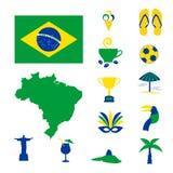 Icônes d'ordinateur du Brésil Photos stock