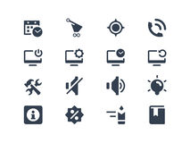 Icônes d'ordinateur et de Web illustration stock