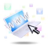 Icônes d'ordinateur portable et d'application Image stock